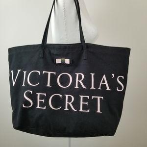 Victoria's Secret Black/Pink Large Tote